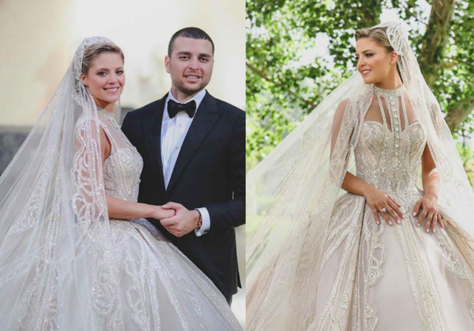 Elie Saab Junior married Christina Mourad this weekend and she stunned in a gorgeous wedding gown by the Lebanese designer