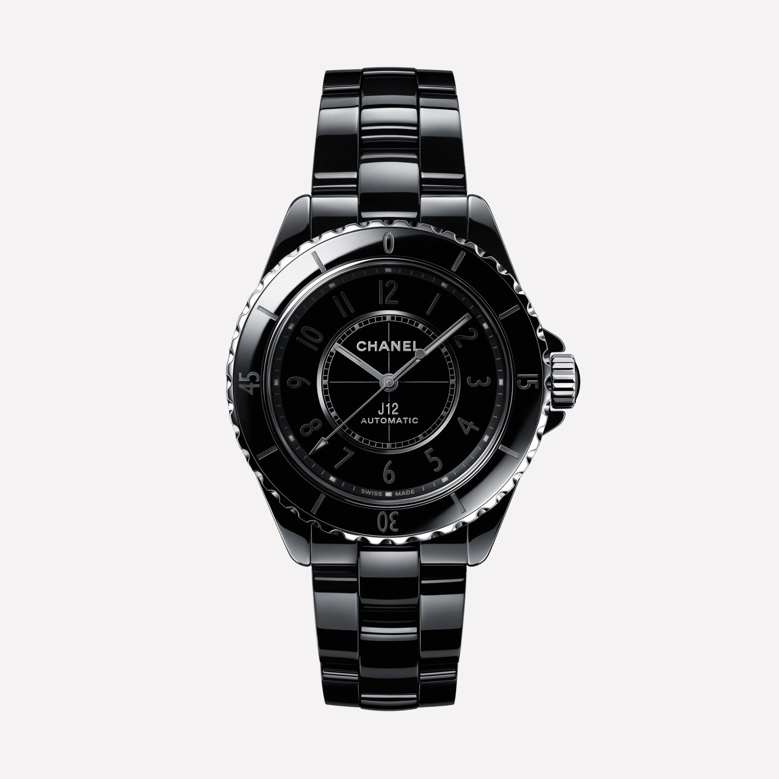Chanel J12 Phantom Watch Black Highly Resistant Ceramic and Steel