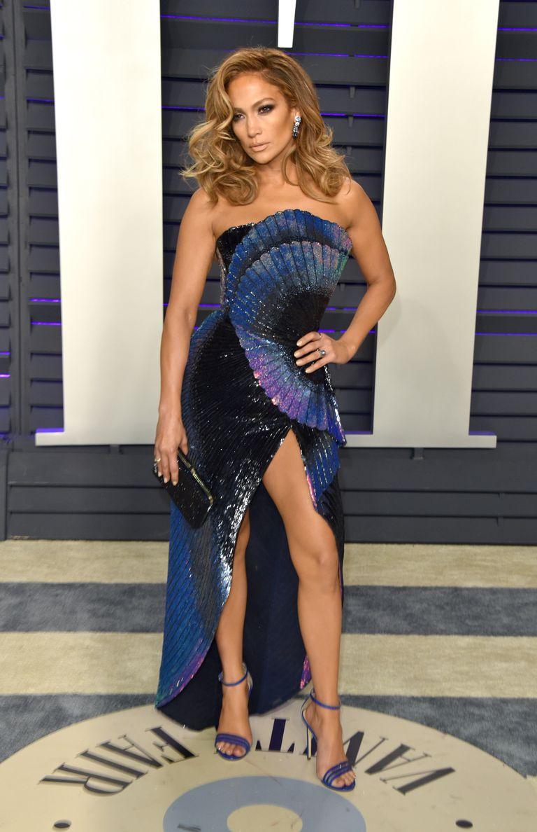 Jennifer Lopez wearing Zuhair Murad at the Oscars 2019