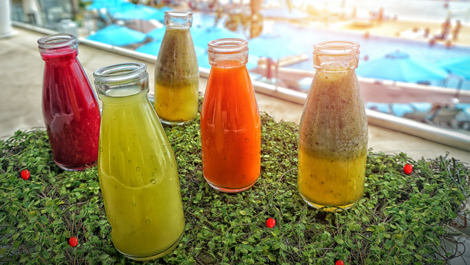 Book in for a healthy juice workshop or simply order one to enjoy during your stay