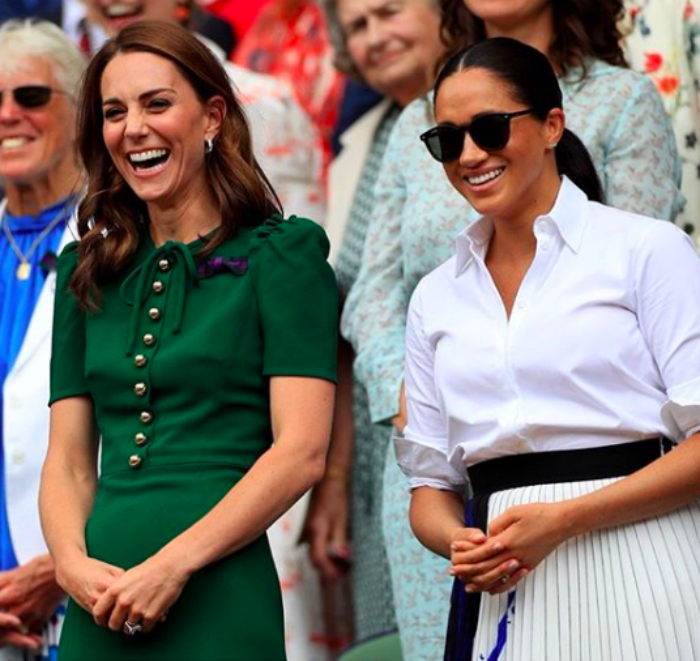 Kate Middleton and Meghan Markle attend Wimbledon together