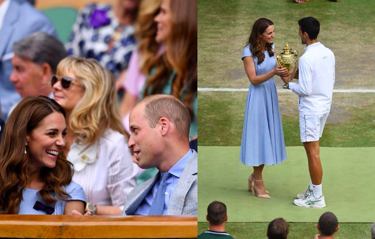 Kate Middleton and Prince William attend Wimbledon together