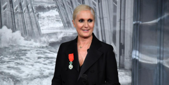 Maria Grazia Chiuri presented with Legion D'honneur award in France