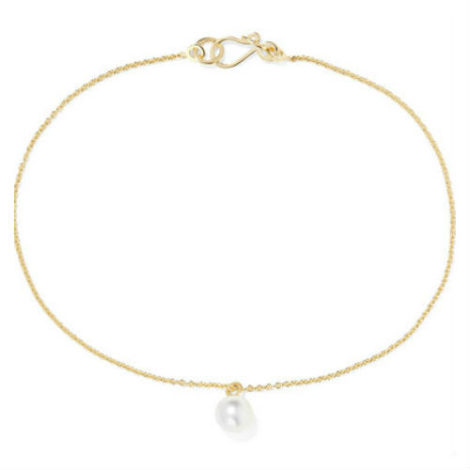 Sophie Bille Brahe Palme De Perle 14-Karat Gold Pearl Anklet Net-A-Porter