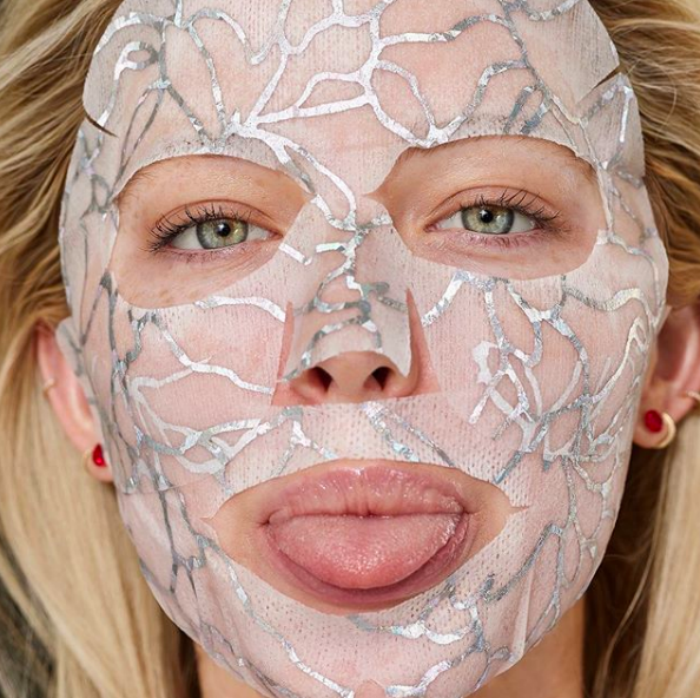 Try the new Glowlace Radiance-Boosting Hydration Sheet Mask for an instant glow