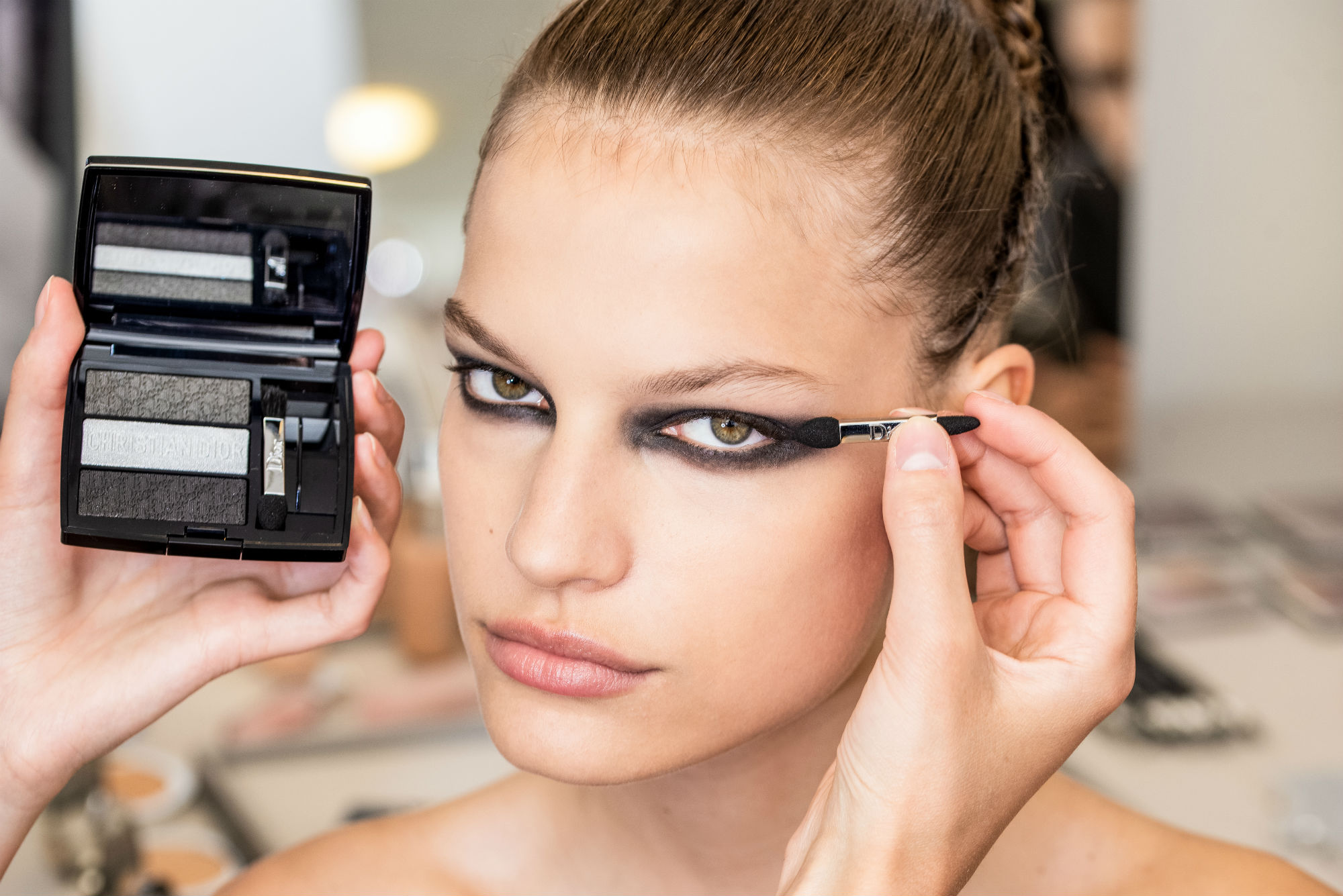 Peter Philips created a smoky eye for the Couture AW19 show