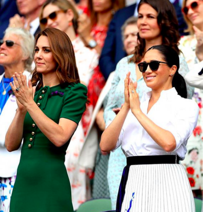 The Duchesses support Meghan Markle's pal Serena Williams at Wimbledon