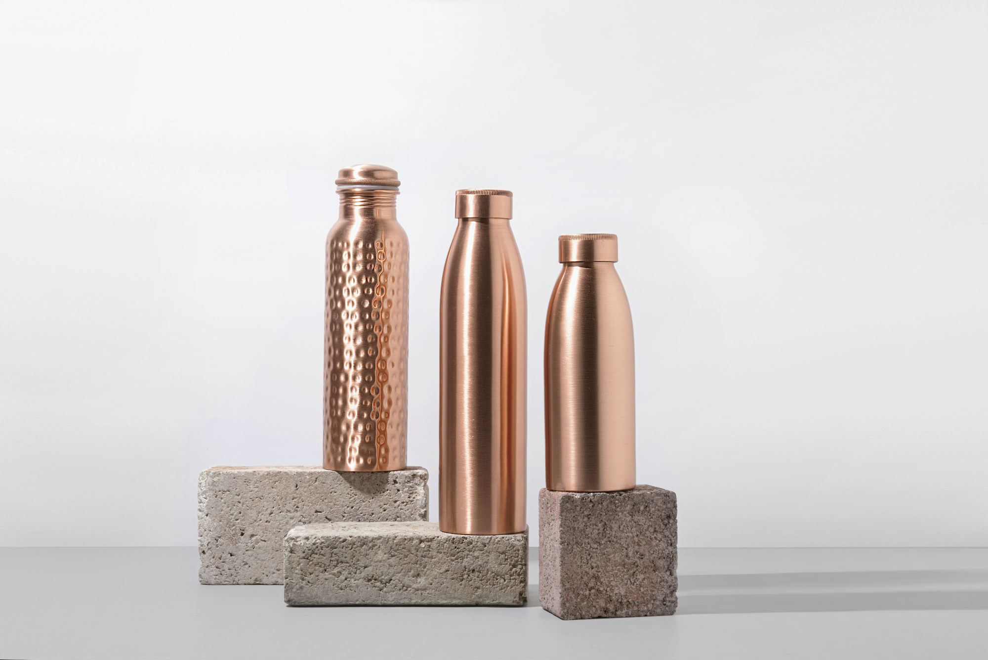 The copper water bottles not only alkalise the water and are better for the environment, but support small family ru