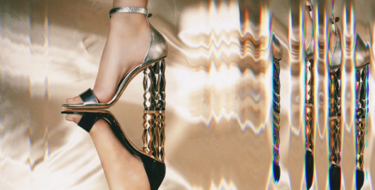 Salvatore Ferragamo's refracted heel shoe has caught our eye and now we want a pair in every design