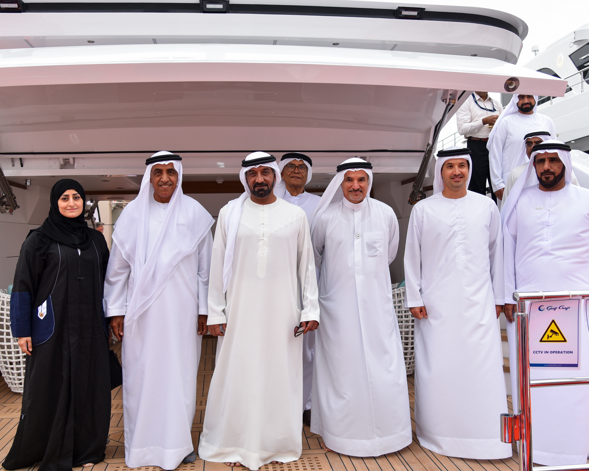 Abeer Alshaali with dignitaries and guests at the last Dubai International Boat Show.