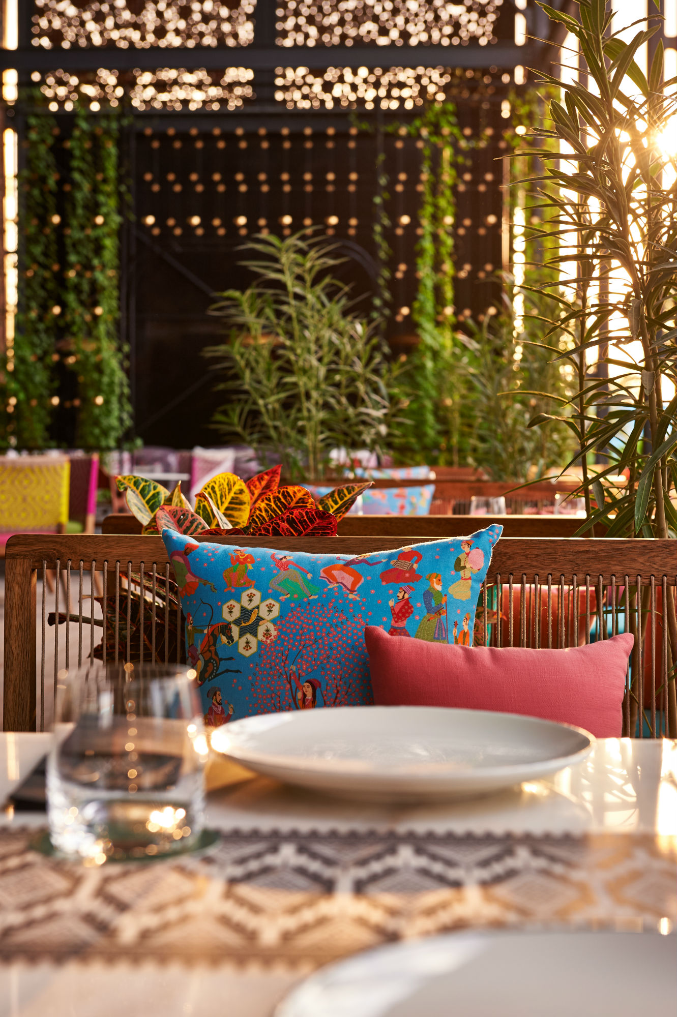The terrace is just as alluring as the main restaurant and bar when it comes to decor