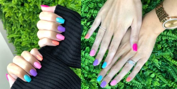 Rainbow Multicolour Nails Trend That Hair Tho Salon Dubai