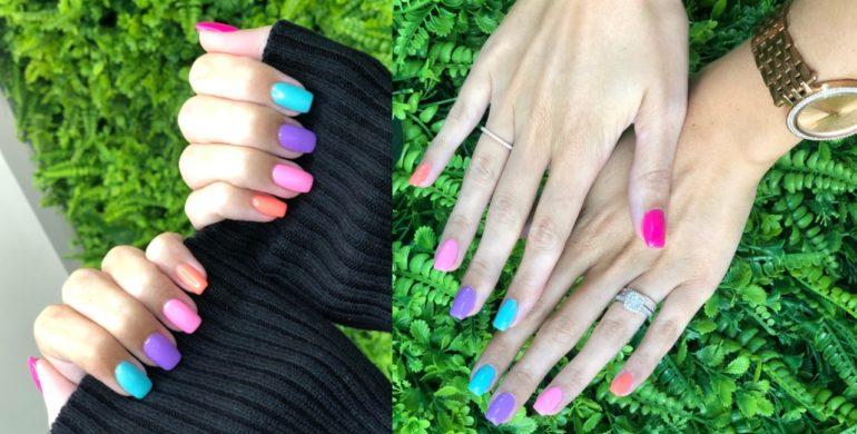 Rainbow Multicolour Nails Trend That Hair Tho Salon Dubai