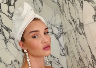Model Rosie Huntington-Whiteley shares her bathroom essentials Model Rosie Huntington-Whiteley shares her bathroom essentials