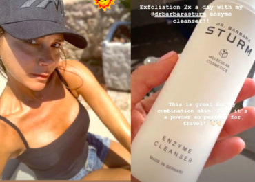 Victoria Beckham shared her holiday skincare routine