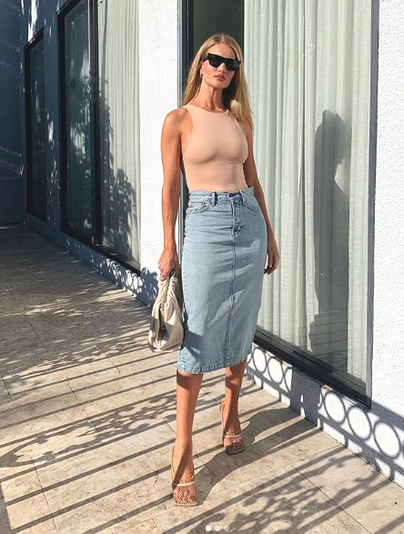 Rosie Huntington-Whitely dons the in trend shoe shape
