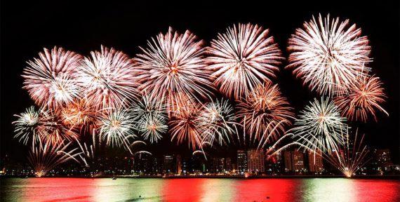 Guinness World Record abu dhabi nye fireworks