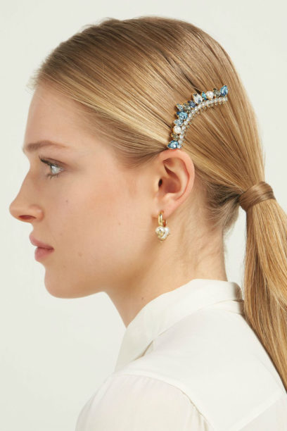 1 matches erdem Crystal and faux-pearl-embellished hair clip