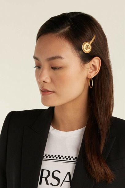1 matches fashion VERSACE Medusa head coin hair slide