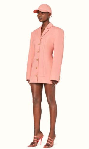 corset blazer dress in marjan rose