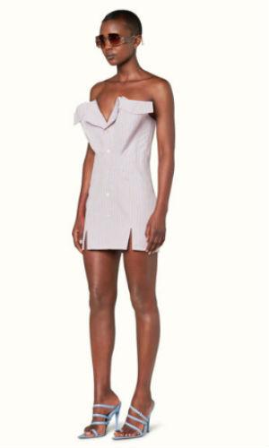 corset dress in gobi stripes