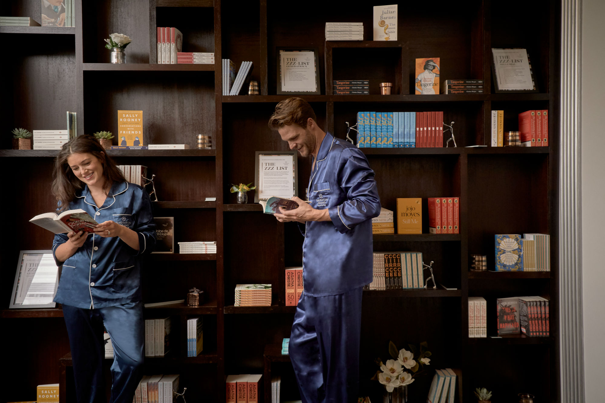 See the hotel library curated just to help guests nod off to sleep