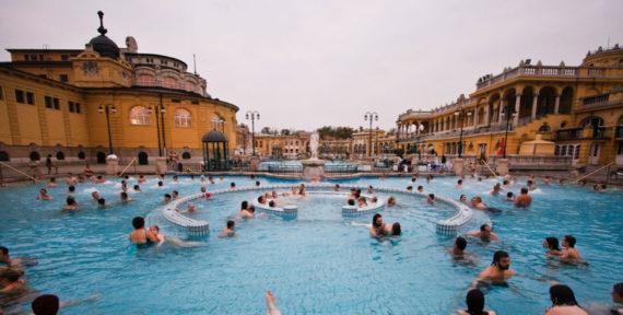 Budapest Szechenyi Thermal Bath Outdoor Pool