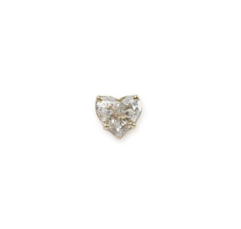 The Last Line - Diamond Heart Stud - AED12250