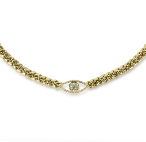 The Last Line - Evil Eye Necklace - AED91829 - 2