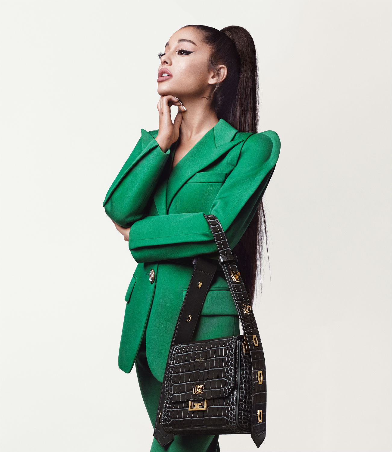 Ariana Grande posed for her first campaign with Givenchy
