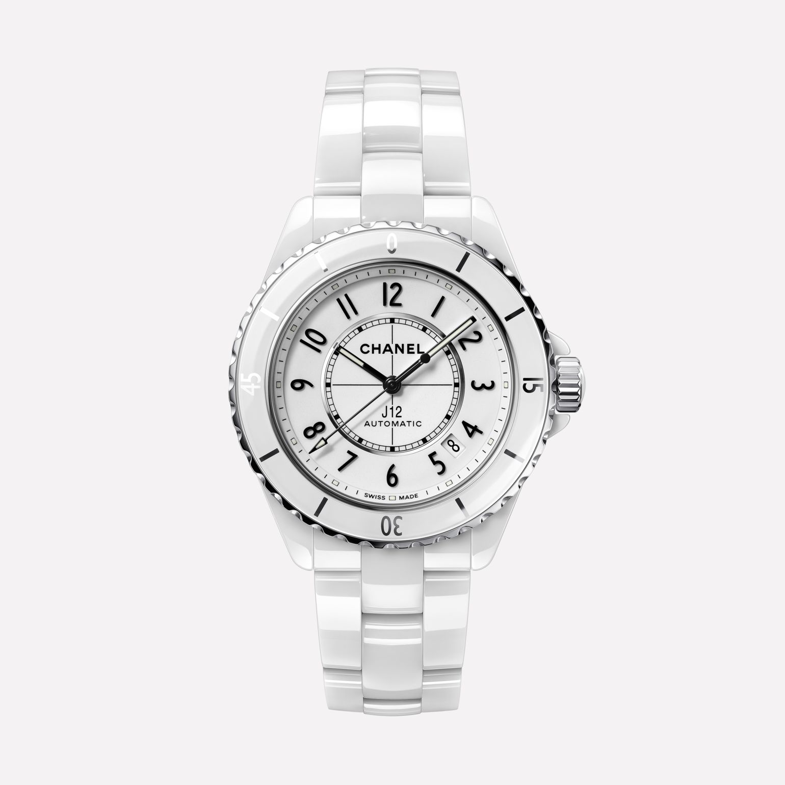 Chanel J12 Watch White Highly Resistant Ceramic and Steel