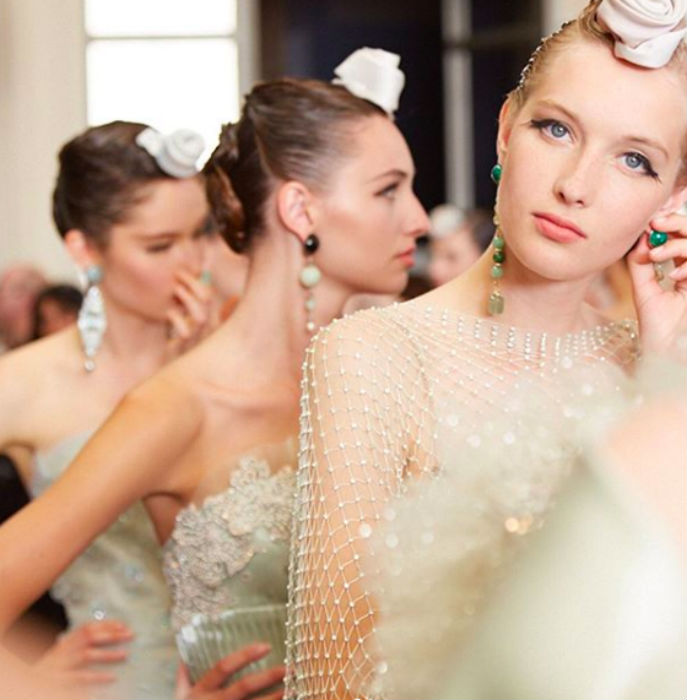 Backstage beauty from Armani