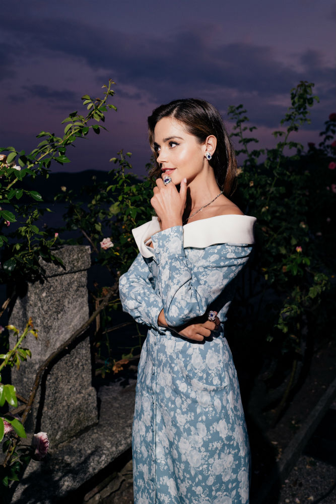 Jenna Coleman headed to Italy to celebrate the launch