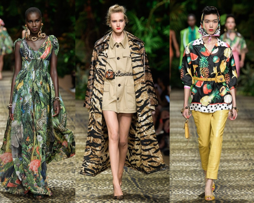 Inside Dolce & Gabbana's Jungle Themed Runway Show for Spring 2020 ...