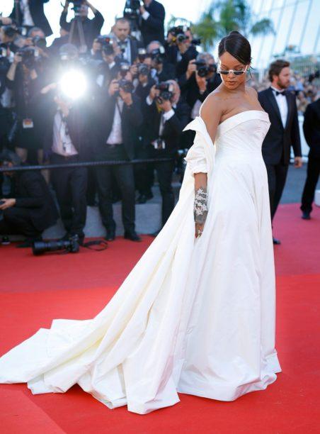 Rhianna wearing Dior